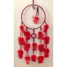 Atrapasueños Rojo de 23 cm de Diámetro
